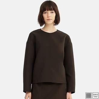 Uniqlo Women's U Wool-blend Long-sleeve Blouse