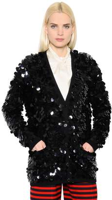 Sonia Rykiel Sequined Wool Knit Cardigan