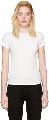 Helmut Lang White Rib T-Shirt $150 thestylecure.com