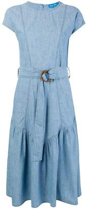 MiH Jeans belted ruffle skirt dress