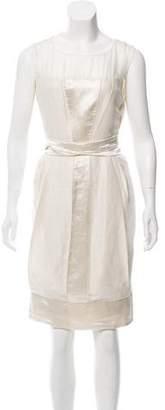 Philosophy di Alberta Ferretti Linen & Silk Knee-Length Dress