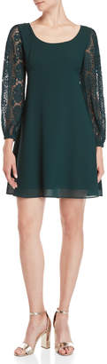 Nanette Lepore Nanette Lace Sleeve A-Line Dress