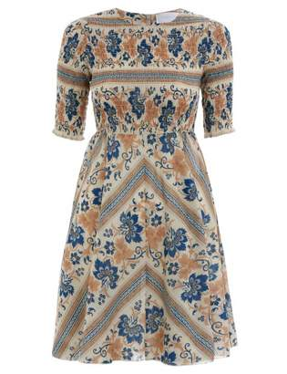Zimmermann Castile Shirred Bodice Dress