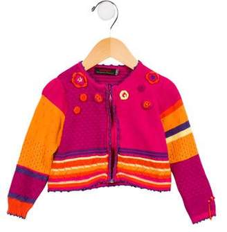 Catimini Girls' Embellished Colorblock Cardigan