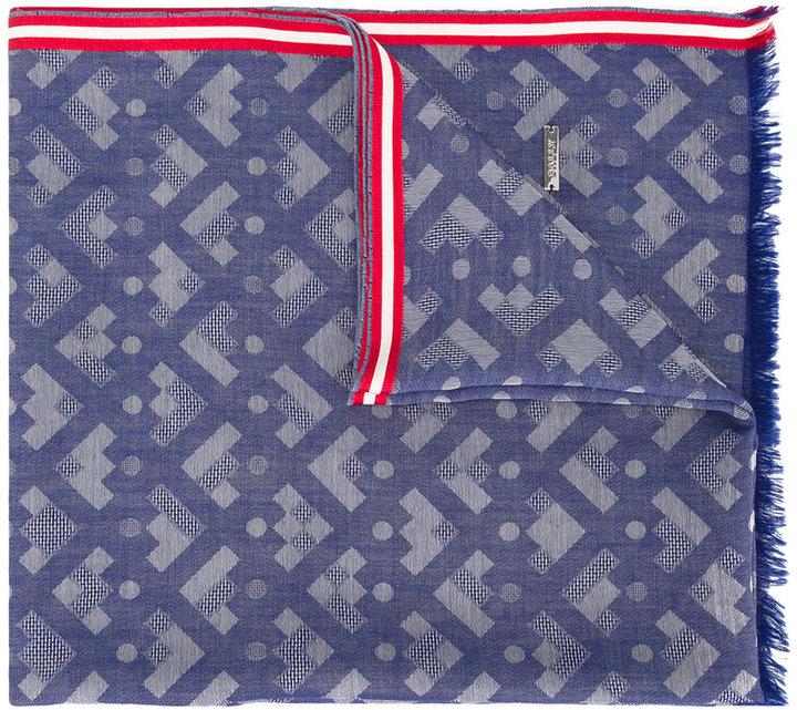 BallyBally geometric pattern scarf