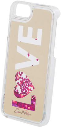 Edie Parker Floating Love Glitter iPhone Plus Case