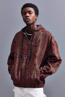 Urban Outfitters Paisley Jacquard Hooded Jacket
