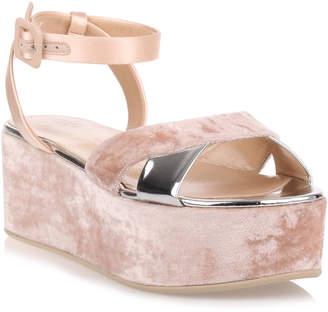 Giuseppe Zanotti Blush velvet platform sandal