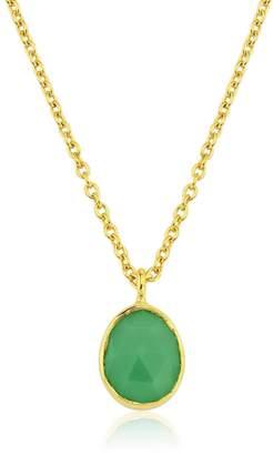 Manhattan Gold Auree Jewellery & Chrysoprase Pendant Necklace