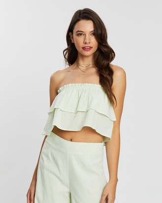 MinkPink Paradise Island Layered Top