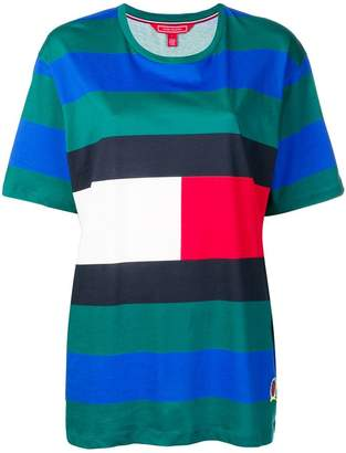 Tommy Hilfiger colour-block logo T-shirt