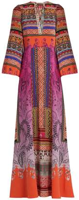 ETRO Paisley-print tie-neck gown $2,930 thestylecure.com