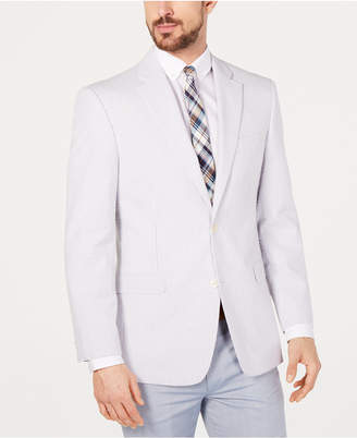 Tommy Hilfiger Men Modern-Fit Th Flex Stretch Seersucker Stripe Sport Coat