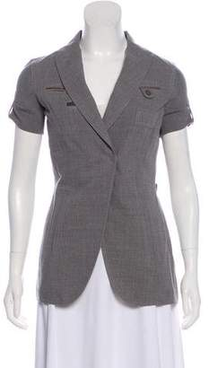Brunello Cucinelli Peak-Lapel Button-Up Blazer w/ Tags
