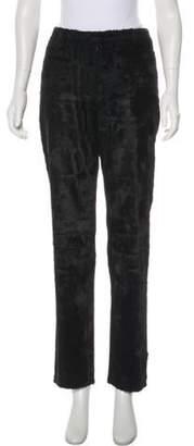 CNC Costume National Faux Fur Mid-Rise Straight-Leg Pants Black Faux Fur Mid-Rise Straight-Leg Pants