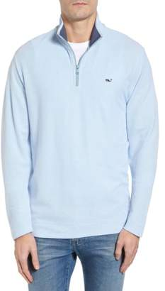 Vineyard Vines Reverse Oxford Quarter Zip Pullover