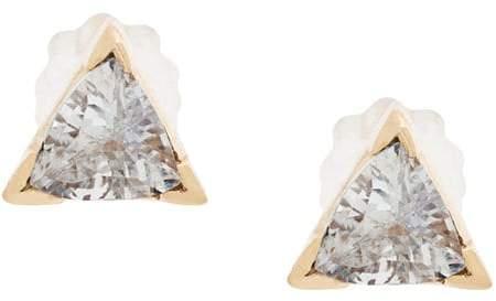 Maria Black 14kt gold Diamond Cut Trillion earrings