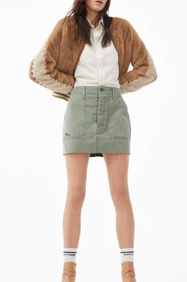 Mother Letterman Faux Fur