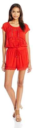 Ella Moss Women's Broderie Anglaise Embroidered Romper
