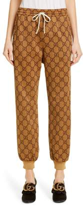 Gucci GG Print Technical Jersey Jogger Pants
