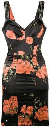 Philipp Plein Floral stud-embellished dress