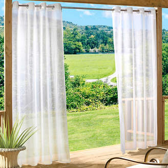 Asstd National Brand Escape Solid Grommet-Top Outdoor Curtain Panel
