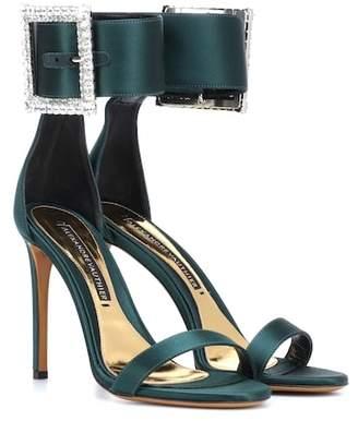 Alexandre Vauthier Yasmin embellished satin sandals