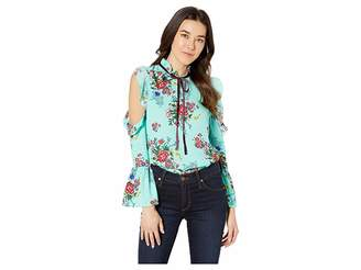 Rock and Roll Cowgirl Cold Shoulder Blouse B4C9631