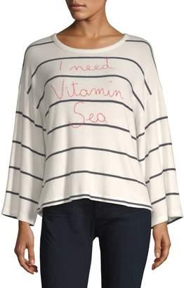 Sundry Vitamin Sea Stripe Long-Sleeve Tee