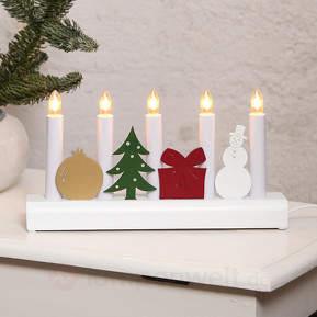 Bunter Kerzenleuchter Julia m. Weihnachtsmotiven