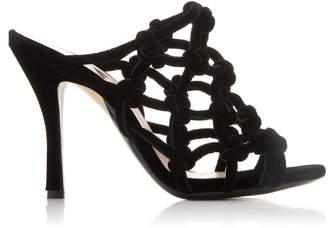 N°21 Knotted Velvet Sandals