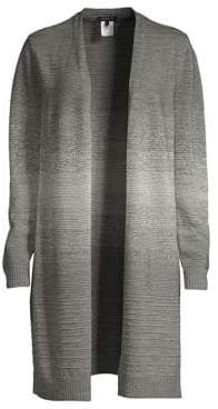 Lafayette 148 New York Women's Metallic Ombre Cardigan - Nickel Metallic - Size Medium