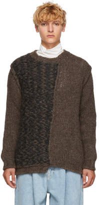 Isabel Benenato Brown Alpaca Sweater