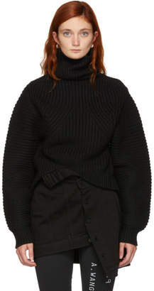 Alexander Wang Black Split Turtleneck