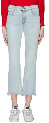 Rag & Bone 'Hana' distressed cuff cropped jeans