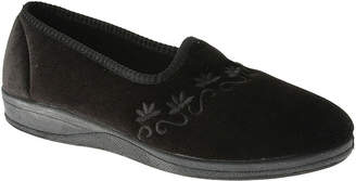 Spring Step Jolly Womens Embroidered Slippers
