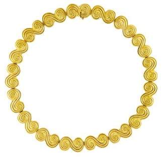Tiffany & Co. 18K Scroll Necklace