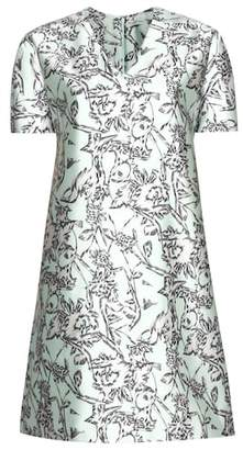 Balenciaga Printed silk-blend dress