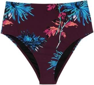 Diane von Furstenberg West Floral-print High-rise Bikini Briefs