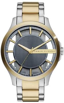 Armani Exchange Two-Tone Bracelet Watch, 46mm
