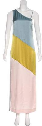 Diane von Furstenberg Colorblock Asymmetrical Evening Dress