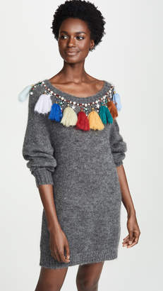 Stella Jean Tassel Sweater Dress