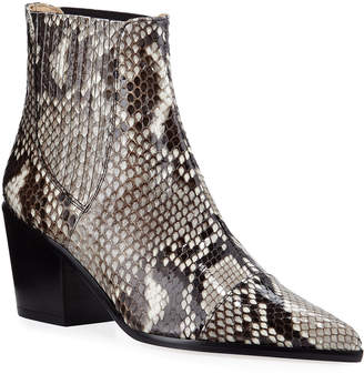 Alexandre Birman Bravo Python Pointed Booties