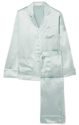Olivia von Halle - Coco Silk-satin Pajama Set - Mint