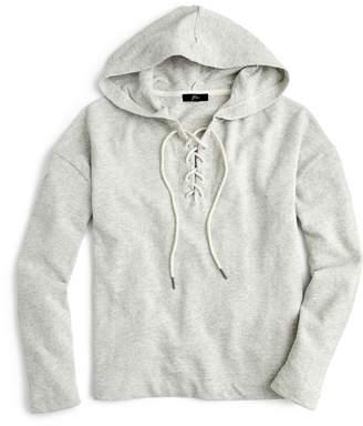 J.Crew Lace-Up Swing Hoodie Pullover Sweatshirt