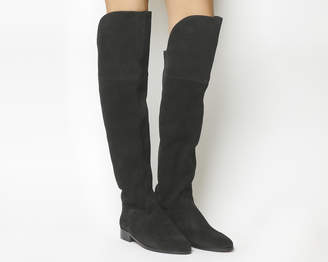 44998d892e4 Office Kube Over The Knee Boots Black Suede