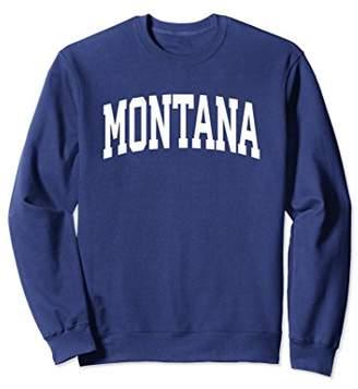 Montana Crewneck Sweatshirt Sports College Style State Gifts