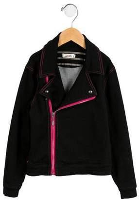 Junior Gaultier Girls' Casual Moto Jacket