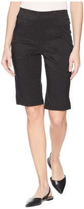 Tribal Mini Dot Jacquard 13 Pull-On Bermuda Women's Shorts