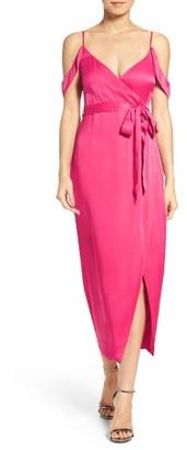 Women's Bardot Leah Satin Midi Dress $109 thestylecure.com